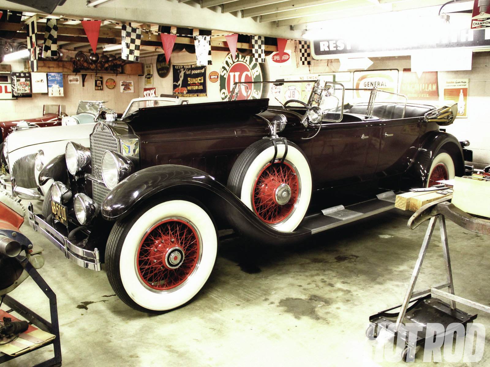 Though Sparks was an avid Packard restorer, having won many First Place showings at the Pebble Beach Concours, this '29 Packard dual-cowl phaeton he purchased in the early '60s was left as he bought it, in fairly decent restored condition.