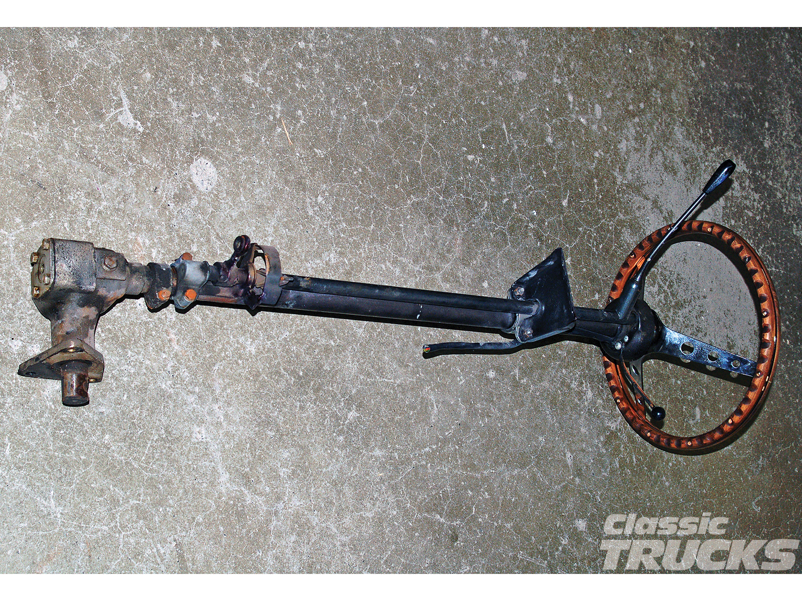 power steering for 1953 56 f 100s hot rod networkthis column has seen better days and the steering box is junk it