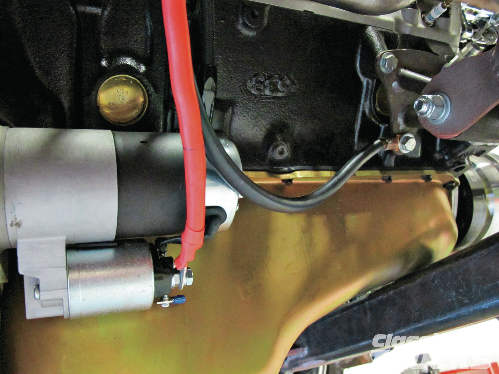 08. Grounds are more important! Did I get your attention? Most problems with gauges come from poor grounds. A good ground starts with the battery and the ground wire location. Make sure the ground wire is clean and goes to the engine block with a heavy-gauge wire directly from the battery. Then branch out from the engine block to the frame and to the body.