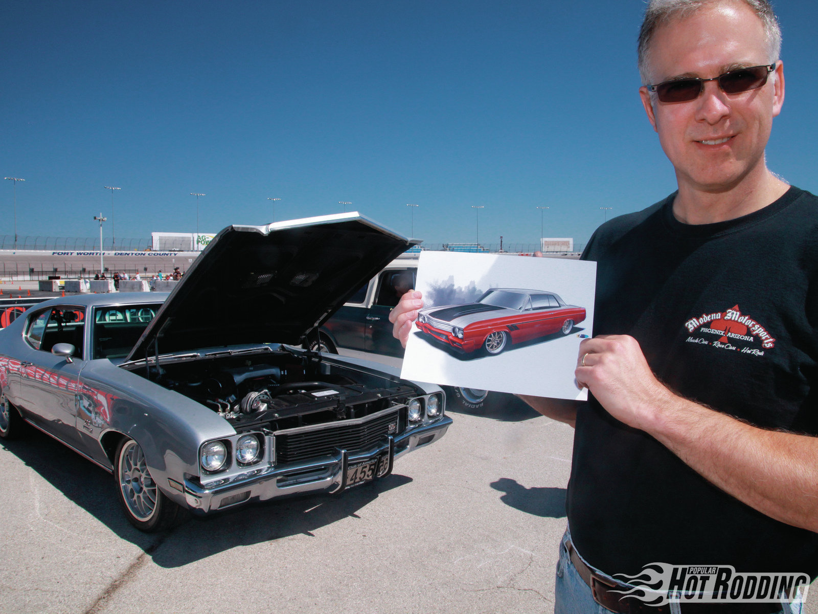 Jeff Peoples (Ridgeland, Mississippi) is a regular at the Fort Worth Street Machine autocross with his current ride, a fuel-injected 455-powered Buick Gran Sport, but he showed us a rendering of his newest project, a 1964 Buick Skylark that's in the works. Jeff says to watch for it in our upcoming Readers' Projects issue!