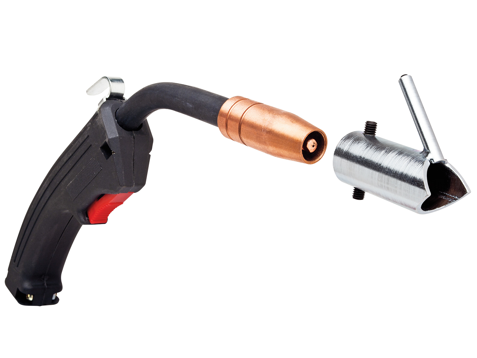 15. This MIG stud welding kit from Eastwood gives your MIG welder the ability to quickly weld studs onto a sheetmetal panel that can then be used to easily remove dents using a slide hammer.