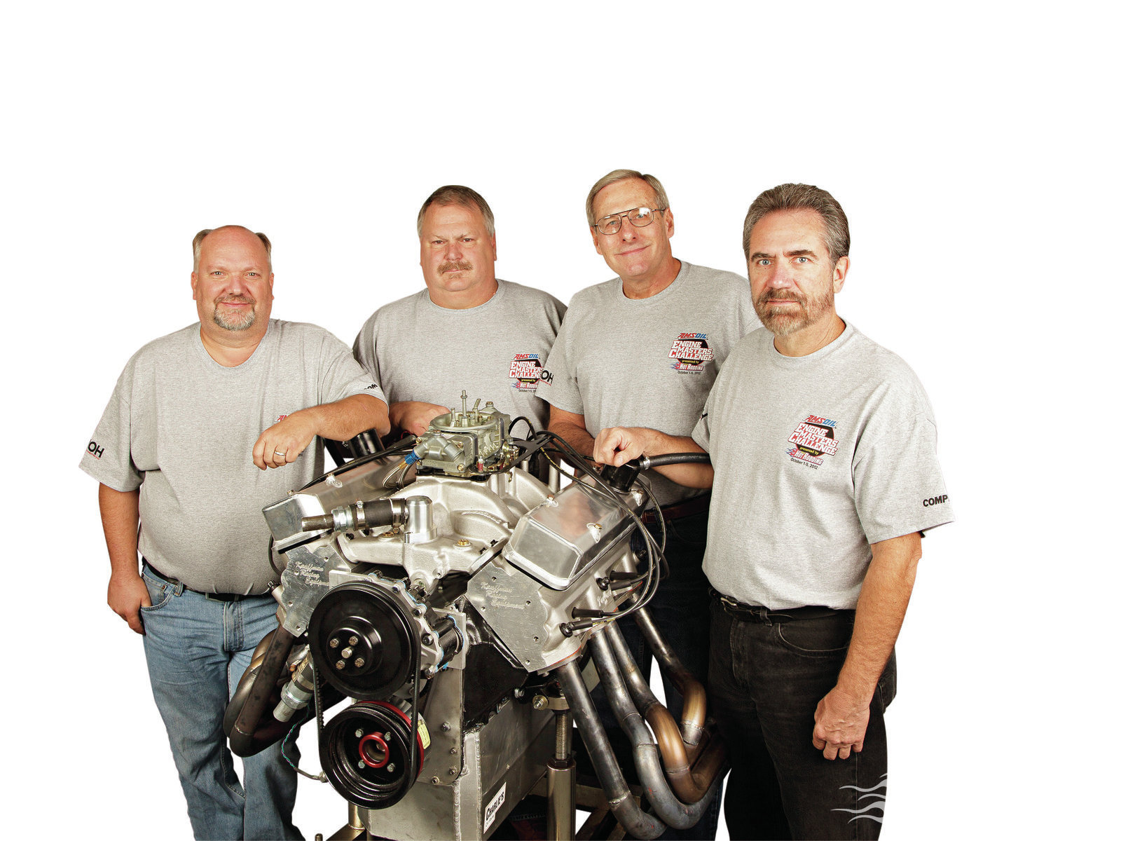 Pontiac performance is what it is all about for these individuals. Pictured from left to right are John Albert, Bruno Jacobs, Ray Clayton, and Mike Semchee.