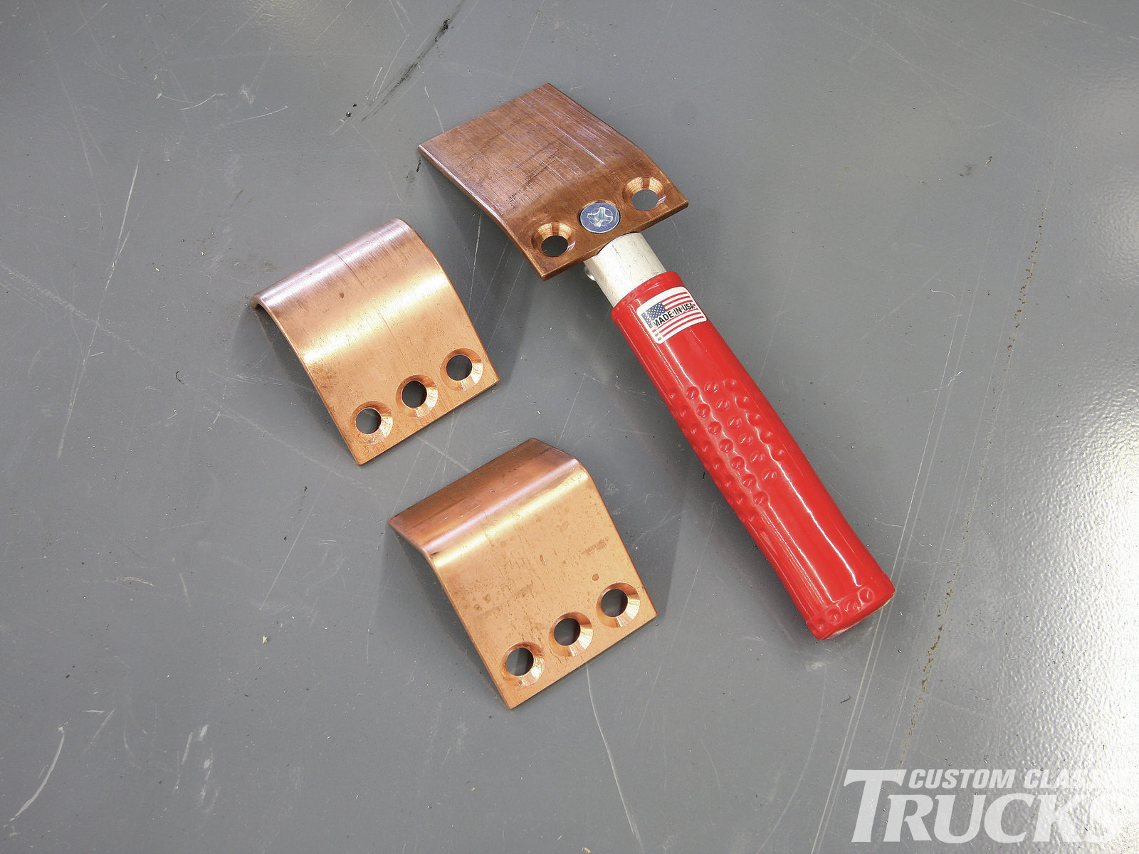 12. The copper acts as a backing support for the weld and the weld doesn't stick to the copper.