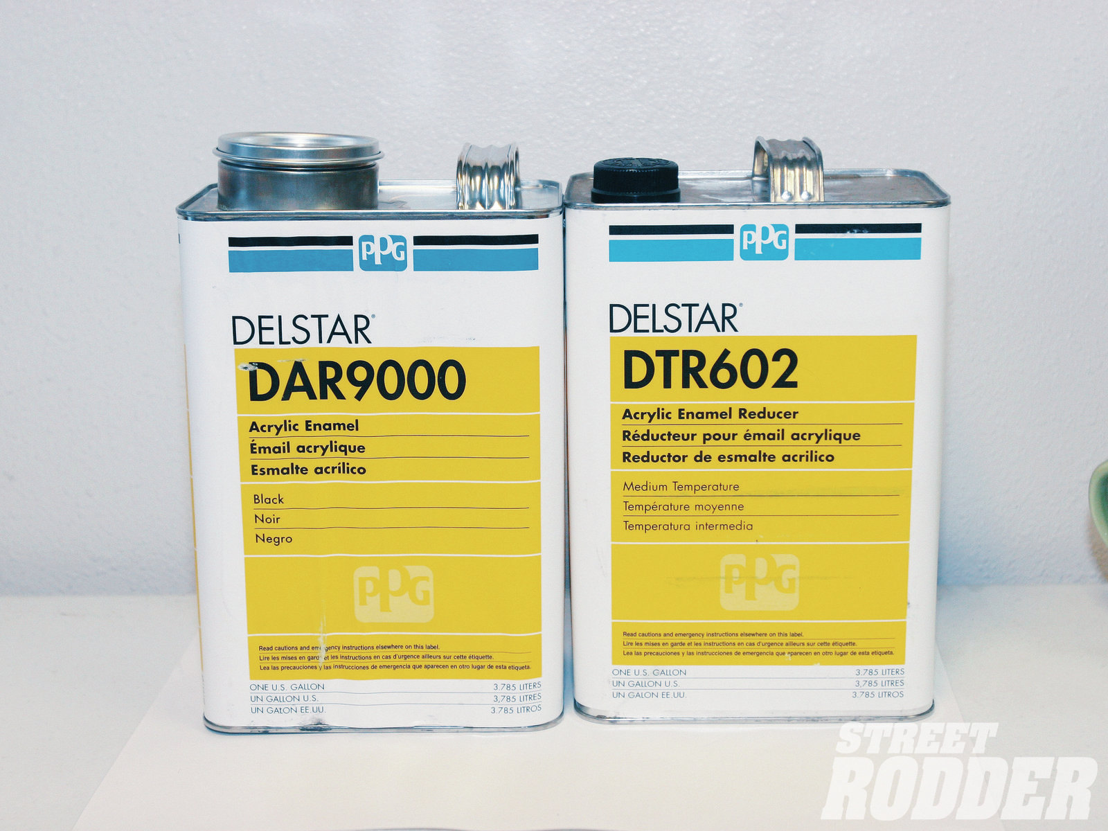 Still with us is the Delstar line of acrylic enamel. Once commonly used for repair work in body shops, it is still seen as affordable single-stage paint on street rod chassis and components.