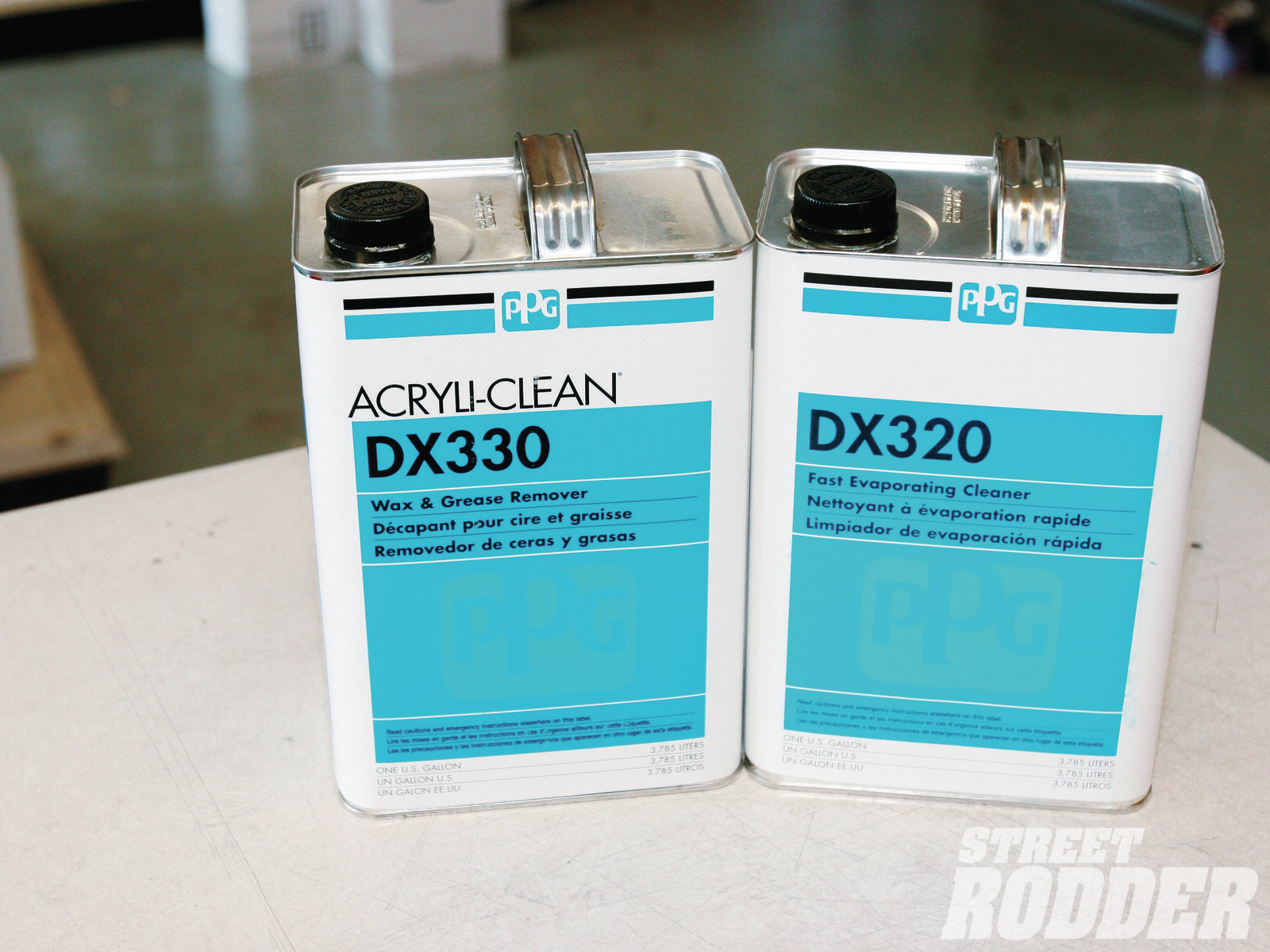 DX 330 cleaners are used to remove surface contaminants such as wax, grease, silicones, and others—it should be used before and after sanding. DX320 should be used as a final cleaner before applying paint.