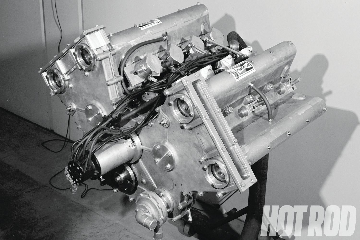 Mickey Thompson was developing a DOHC conversion for a 255ci Chevy to run at Indy. The engine was reported to make 500 hp at 8,500 rpm. These were the predecessors to the engine on the June '67 cover of HOT ROD.