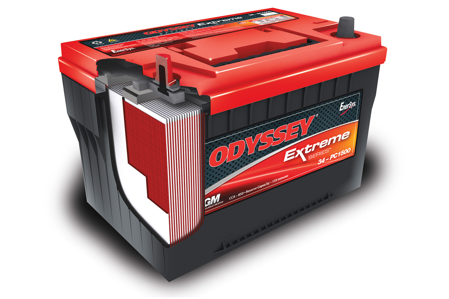 Odyssey uses AGM technology to contain acid; the conventional outward appearance is the result of using densely packed; flat plates.