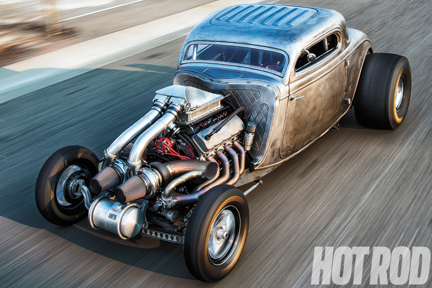 This '34 Ford dirt-track dog has miraculously found new life with owner Rick Feicheer and builder Ed Umland from Eddie's Chop Shop in Sacramento, California. The hopeless heap has been rejuvenated for the street, strip, and perhaps even Bonneville one day.