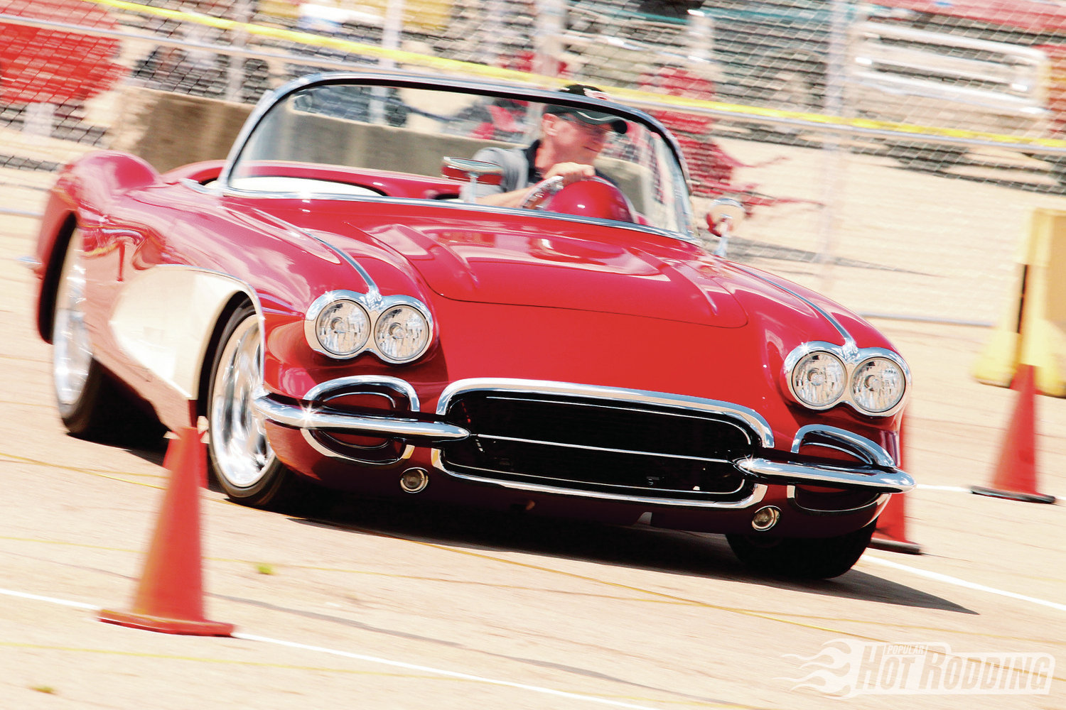 Ron Sall's stunning 1959 Corvette was also up for SMOTY honors, and eagerly attacked the course with its sticky C4 suspension. The power team includes an LS1 crate motor, Tremec six-speed, and a Ford 9-inch rear with 3.55 gears.