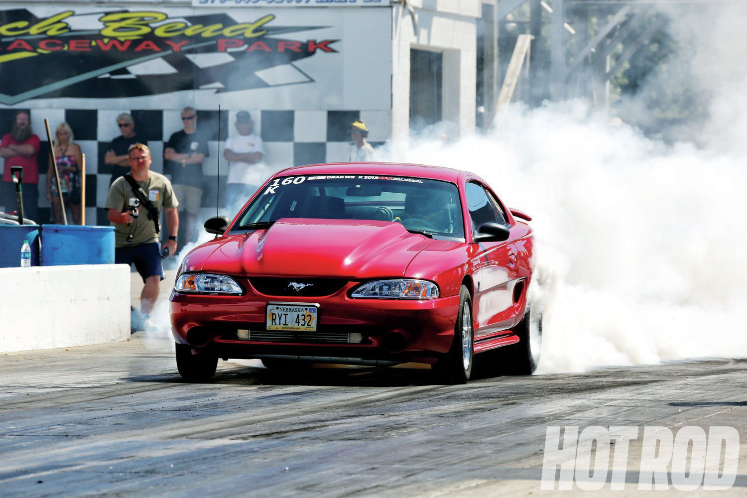 Jon's Mustang uses a Chevy 383 with twin Precision 67/66 billet-wheel turbos that he plumbed with stainless steel. The rest of the drivetrain is Rossler TH210 (which is a Turbo 400 with a 2.10:1 First gear), a Gear Vendors, and a spooled 9-inch with 3.50 gears.