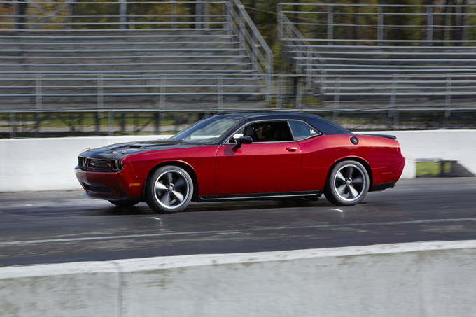 Doing what it does best—the Scat Package-equipped '14 Challenger, before its trip to SEMA.