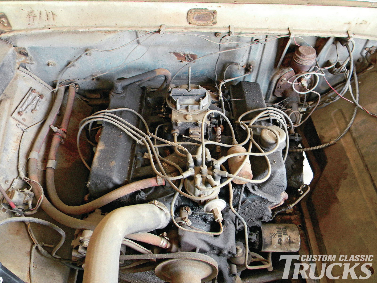 1965 Ford F 100 Project Truck Hot Rod Network Wiring 9 Under The Hood Was Factory 352 V 8 208hp Motor