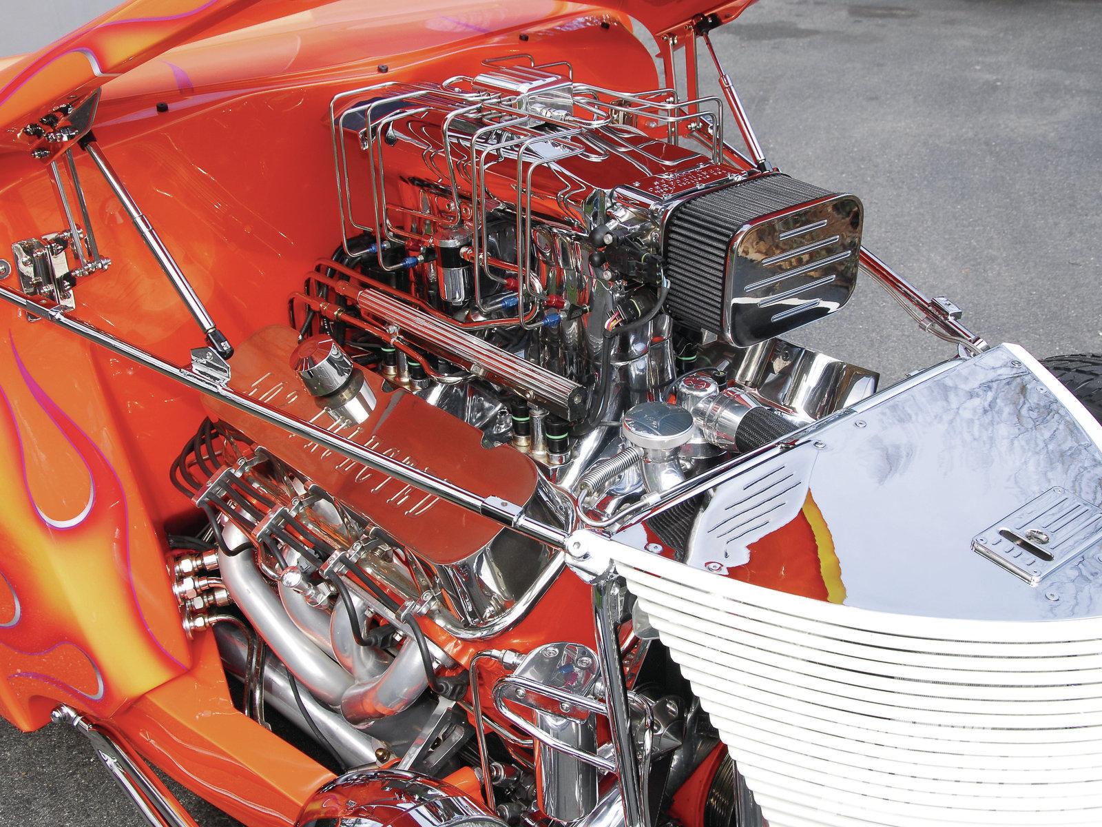 For plenty of seamless power, Street & Performance designed an ultra-detailed GM crate 502 big-block V-8 capped with their signature multi-port fuel injection topped with an NOS nitrous system to generate a stout 500 hp.