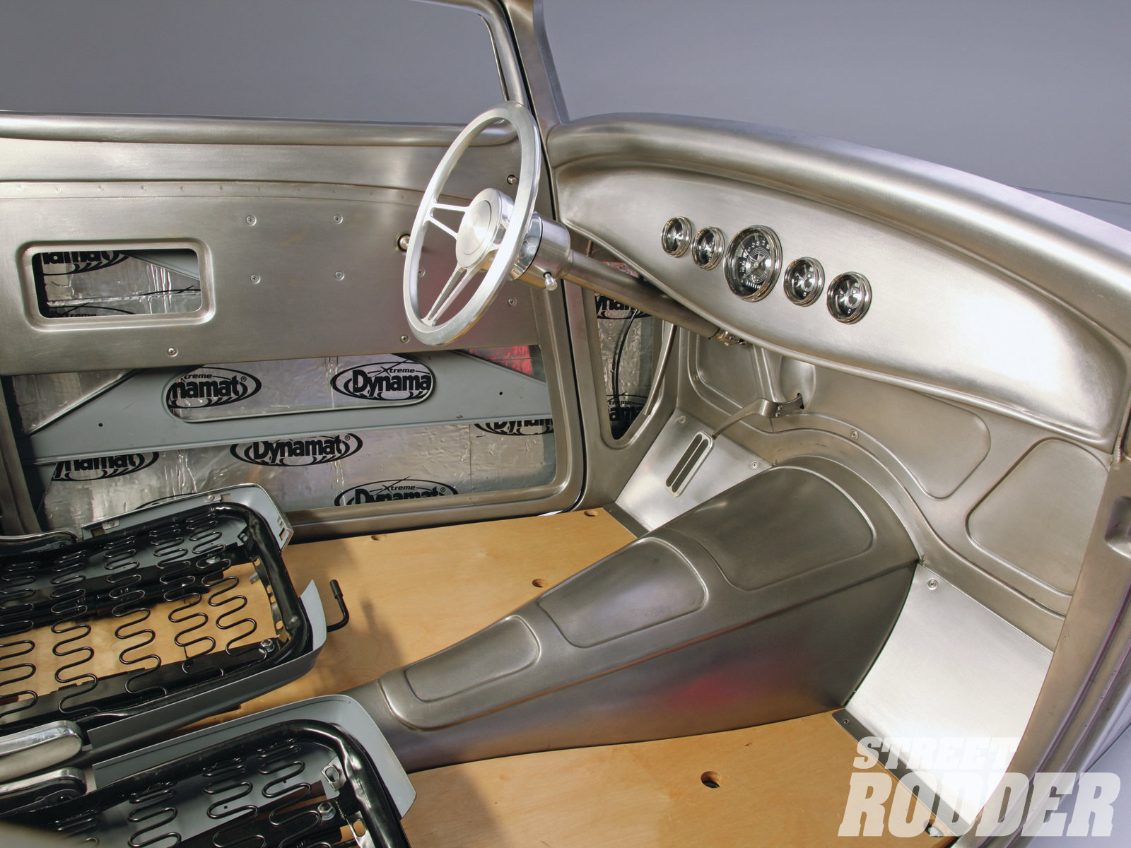22| The steering column came from ididit, and the gauges are through Classic Instruments.
