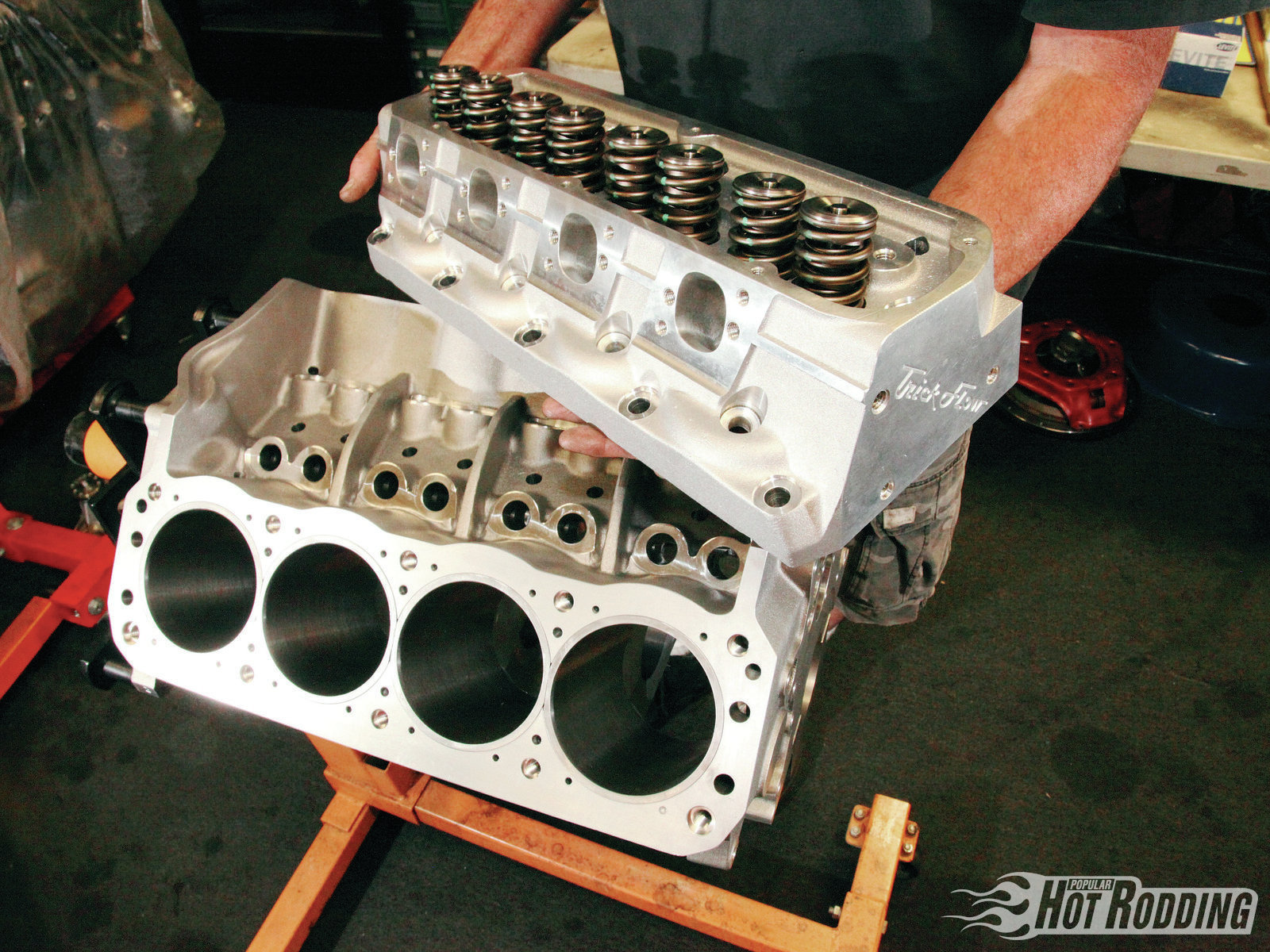 Our need for the strength and displacement provided by the Ford Racing Z351 block will become even more apparent when we mate it to a pair of deep-breathing Trick Flow Specialties (TFS) High-Port 240 CNC heads. TFS cut its teeth on small-block Ford performance 25 years ago, and they remain on the cutting edge of small-block Ford power today; these heads are capable of delivering enough airflow to produce well over 700 hp, and that's our bogey.
