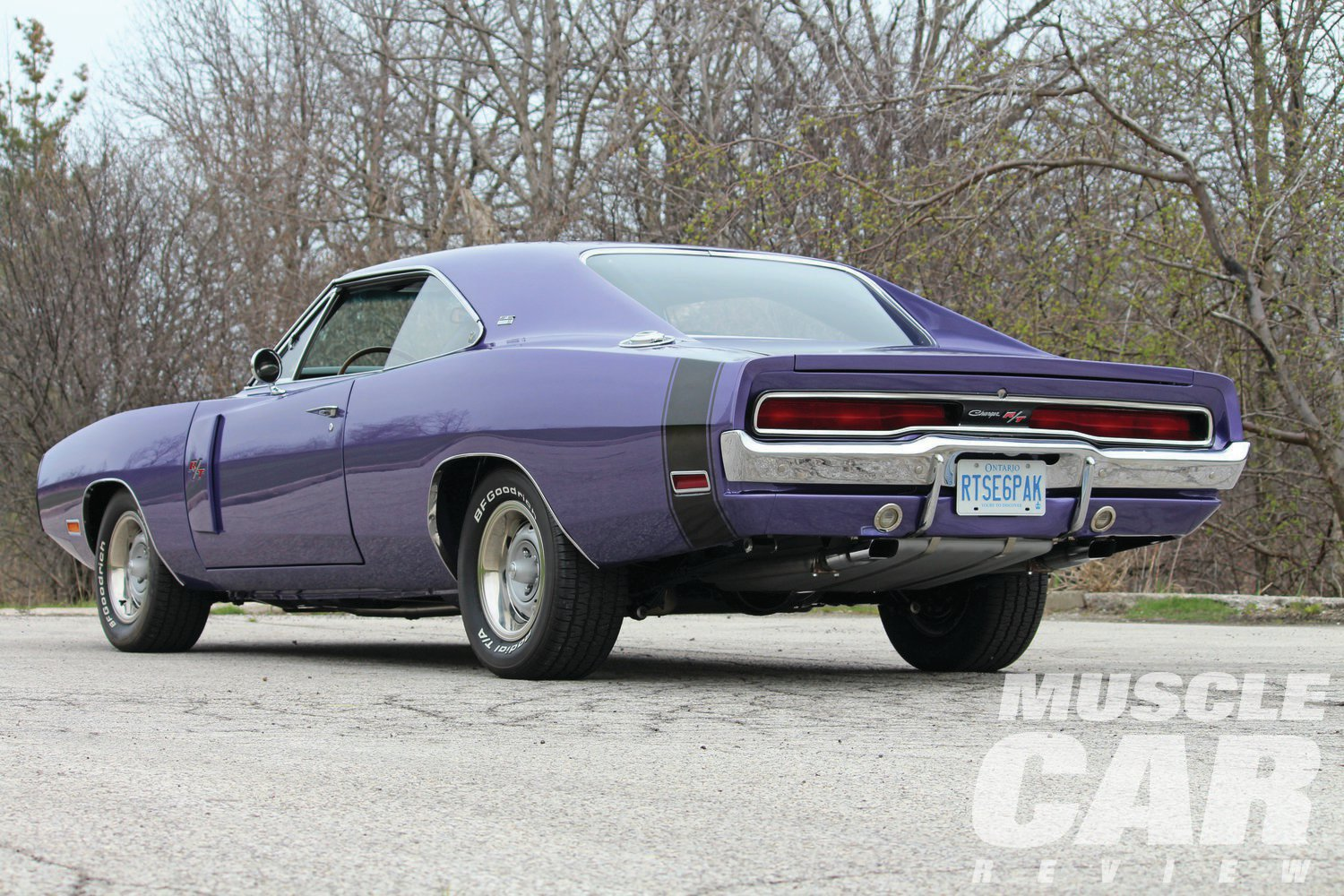 Don Lebeuf spent two years looking for just the right '70 Charger to restore, and another eight years in its rebuild. While the car was originally Hemi Orange, a few too many questions about the Dukes of Hazzard pushed Don into changing the color to Plum Crazy.