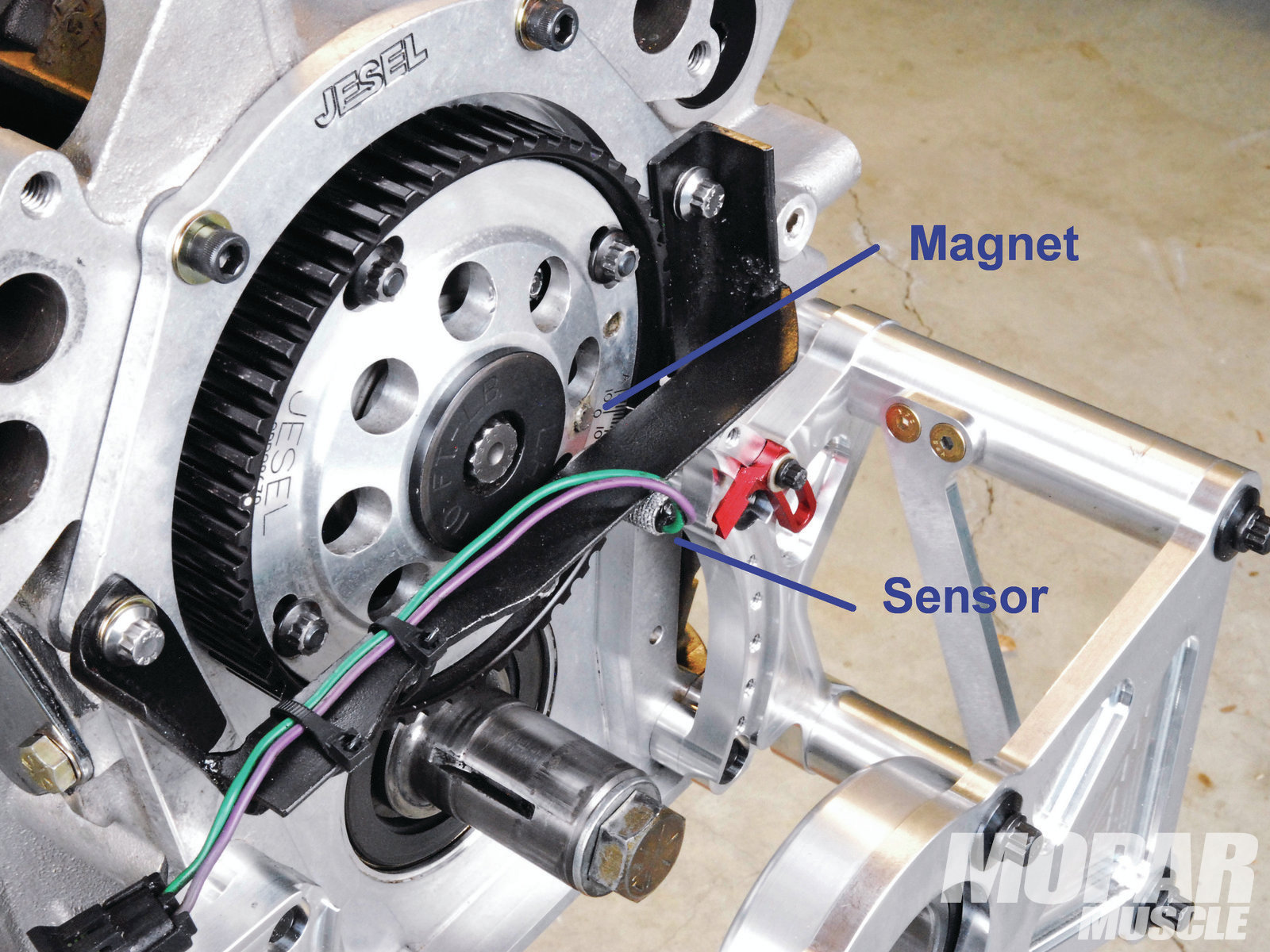 Sequential injection and coil-near-plug operation both require we use a cam sensor. This is easy to access with the exposed Jesel beltdrive.