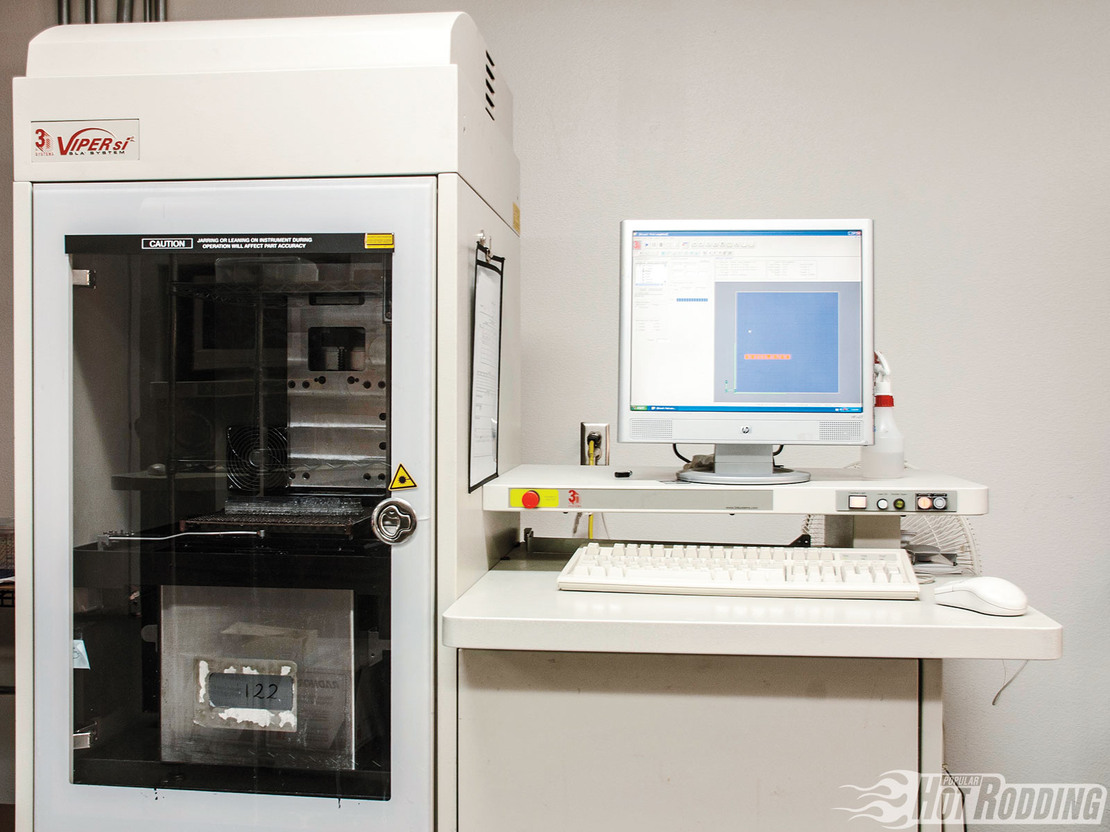 5. The SLA machine Forecast 3D will be using is a Viper si by 3D Systems. It's one of the smaller units they have, but it features a smaller, finer laser than most comparable machines, which outputs high-resolution parts with crisp details.