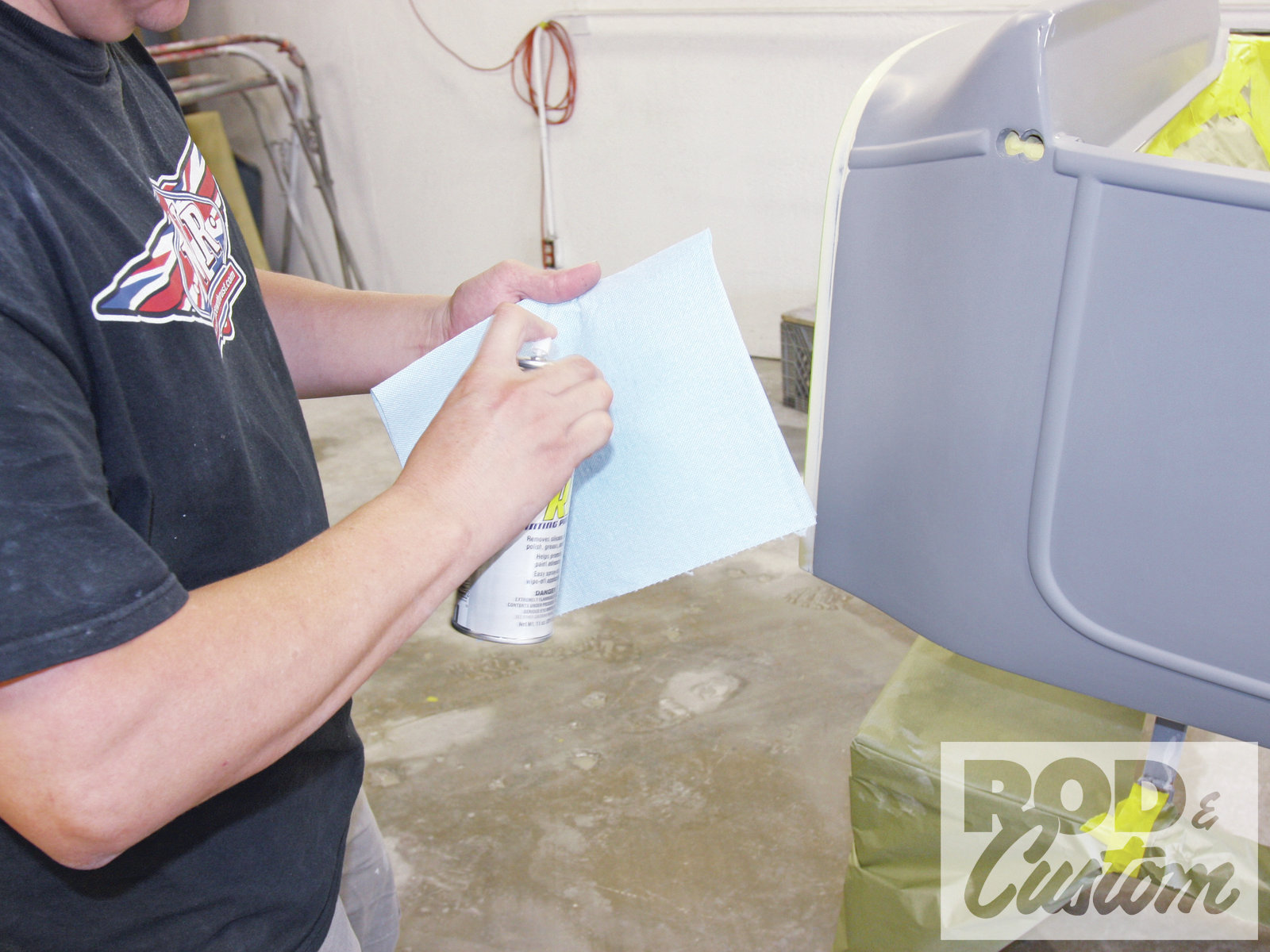 15. The body was prepped using Eastwood's Pre Painting Prep aerosol, to ensure a clean surface.