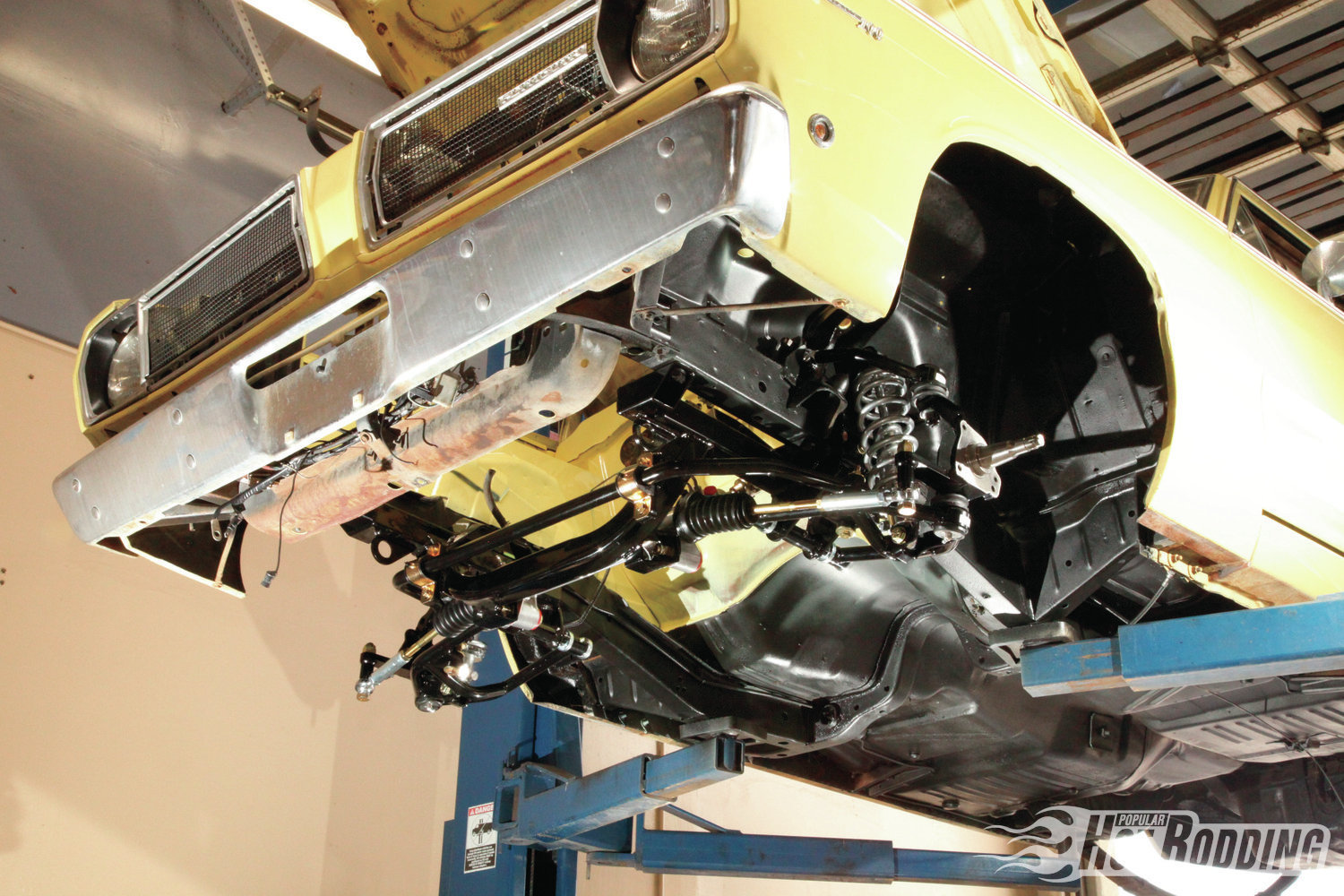 1. The RMS AlterKtion K-member for Mopars is transformative. Weight over the nose is reduced by 75-120 pounds, handling geometry is improved, and steering response is tightened with the included AGR rack-and-pinion conversion. RMS makes the AlterKtion for Mopar A-, B-, and E-Bodies, and for every Mopar engine family, including small-block LA/Magnum, R/RB big-block wedge, Gen II Hemi, and Gen III Hemi.