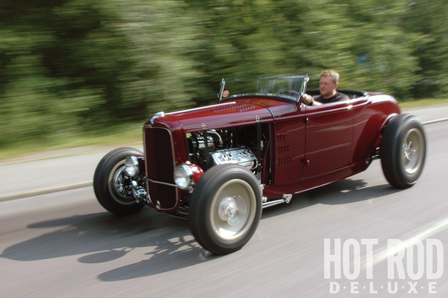 Ronnie takes his roadster on a test run right after it was finished.