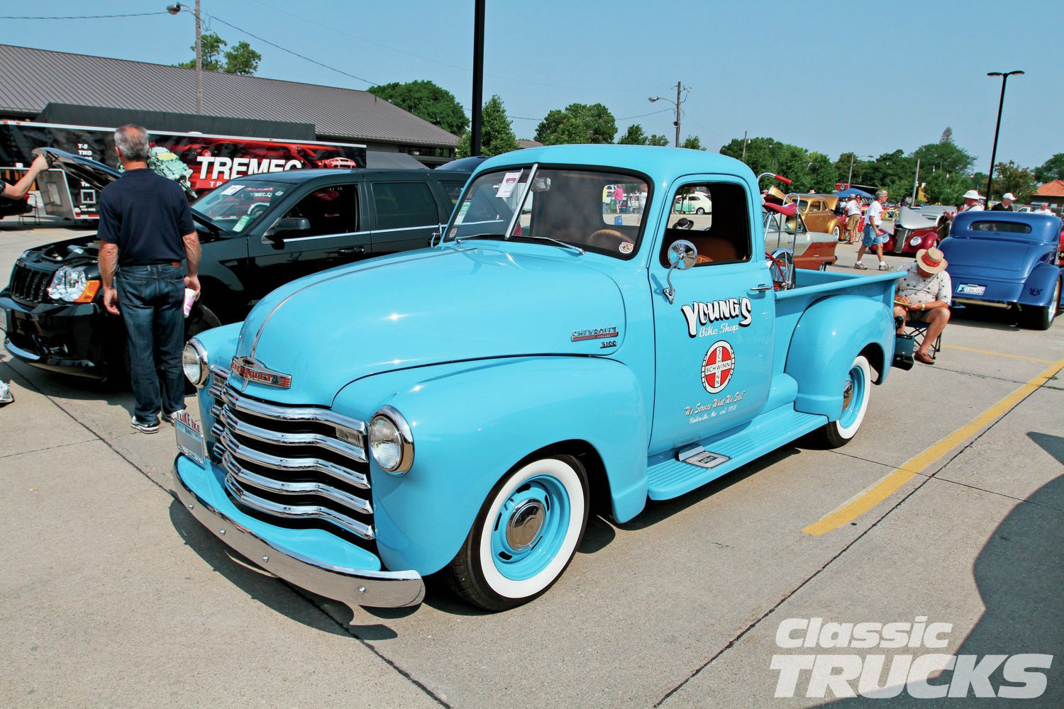 Bob Young's '47 Chevy pickup built by Karl Kustoms of Des Moines, Iowa. Bob built the truck as a tribute to his parents' bicycle business. What an amazing tribute to his folks.
