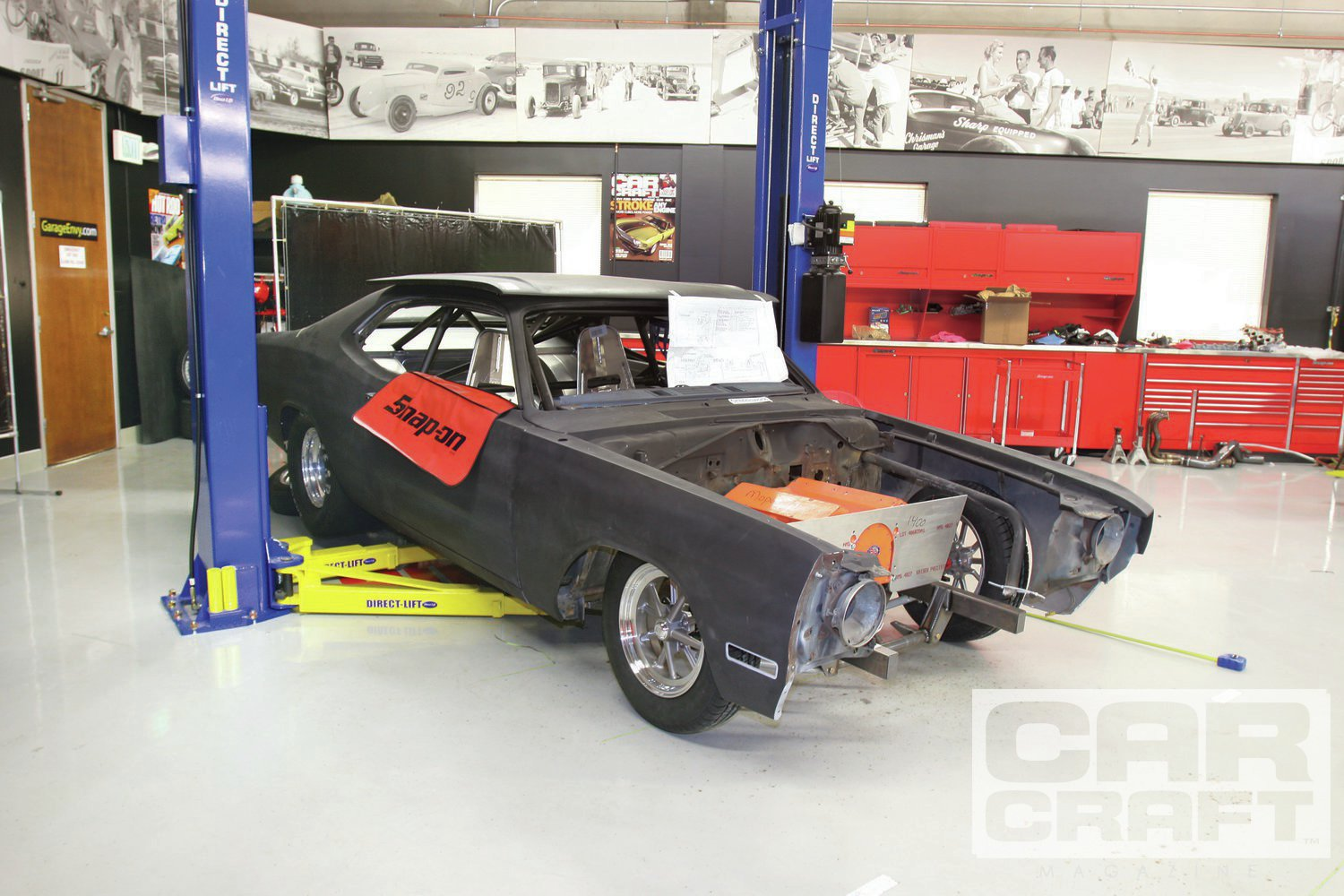 It took only eight weeks to do the math on the front suspension, saw the front off the car, and order the parts from Alston's Chassisworks. At this point, we still believed the new Hemi would fit in the chassis.