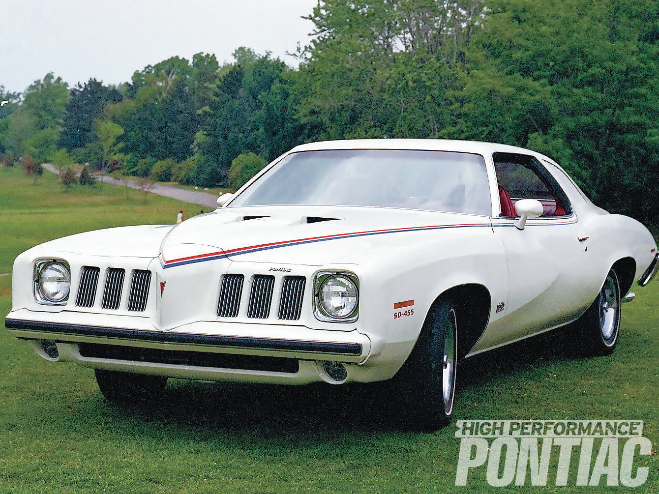 Heralded in Pontiac sales literature as classically styled with ride-and-handling improvements, the '73 Grand Am contained a very distinctive front-end treatment, a look that Pontiac Chief Designer Bill Porter was after. Constructed of soft rubber, the nose was quite pliable and resisted dings and dents.