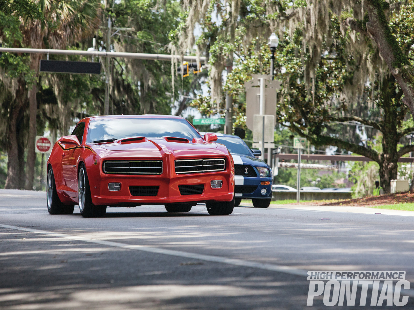 Yeah, we raced them in front of the Florida Supreme Court … and we got it all on film! Check out the videos on our Facebook page, and our YouTube channel to see much more on the Trans Am Depot 6T9 Goat and watch the Trans Am Depot crew beat up on a Shelby Mustang.