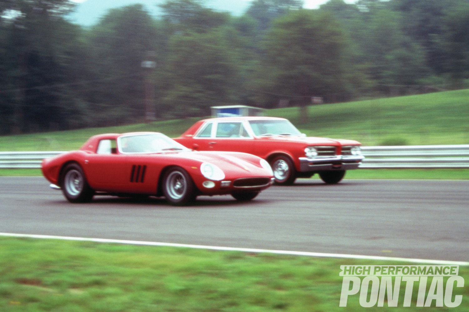 In 1995, former HPP editor R. George Ellis, together with the late Werner Pfister and the author, reunited the original Car and Driver '64 Royal Bobcat GTO with a genuine '64 Ferrari GTO at Lime Rock. Kit Foster from Special Interest Autos (now Hemmings Classic Cars) was also there, as was then-GTOAA president Stan Rarden and former Pontiac ad executive Jim Wangers. Even though the GTO was set up for drag racing, it was still used, as it was the very car from the Mar. '64 issue. The results were predictable—the Pontiac was a rocket on the straightaways, while the Ferrari went around the corners like it was on rails. The sound of that 421 and the V-12 duking it out is something we will never forget.