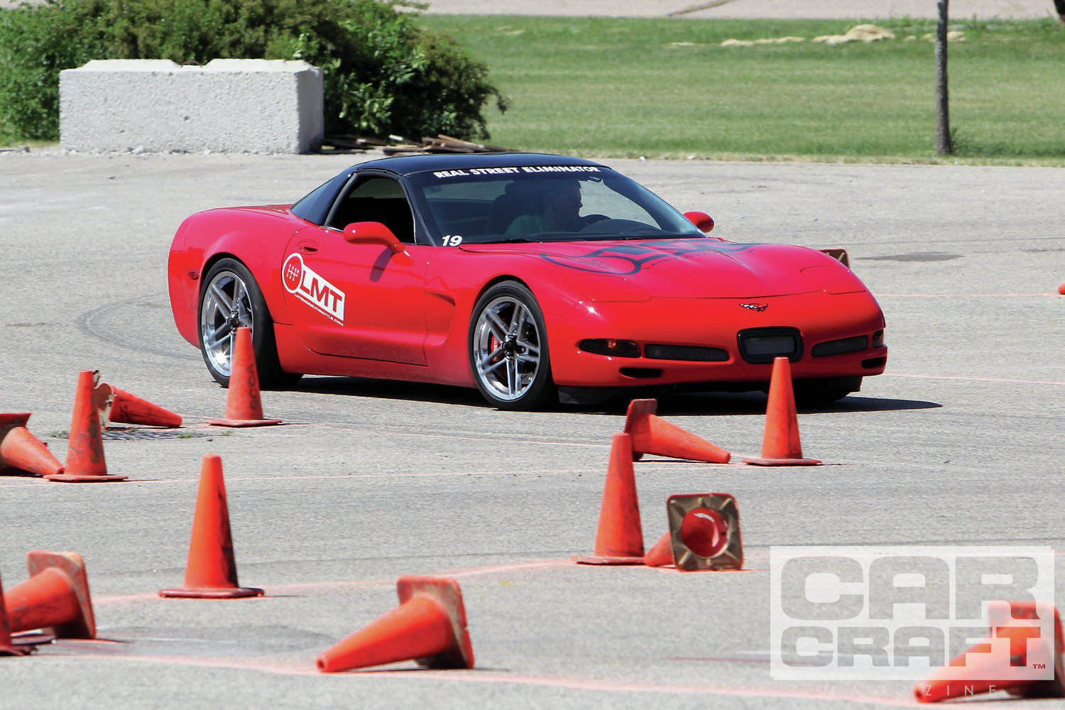Jeff Smith took the Corvette Viper class by virtue of twin-turbo power and excellent overall autocross times. The engine is built from a stock, iron-block LQ4 6.0L with a stock crank, Eagle rods, and Diamond pistons with a Comp cam and stock LS3 heads. The twin Turbonetics turbos are mounted down low, so the engine almost appears stock. Almost…