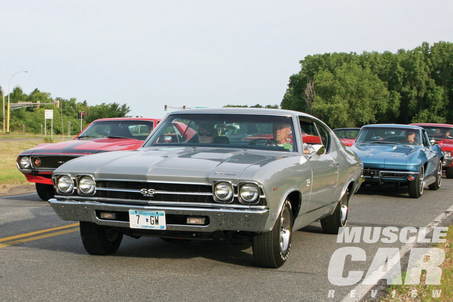 The cars started lining up early Sunday morning. Among the early arrivals was Ken and Judy Gino's beautiful '69 SS396 Chevelle. Their car would later win best of class.
