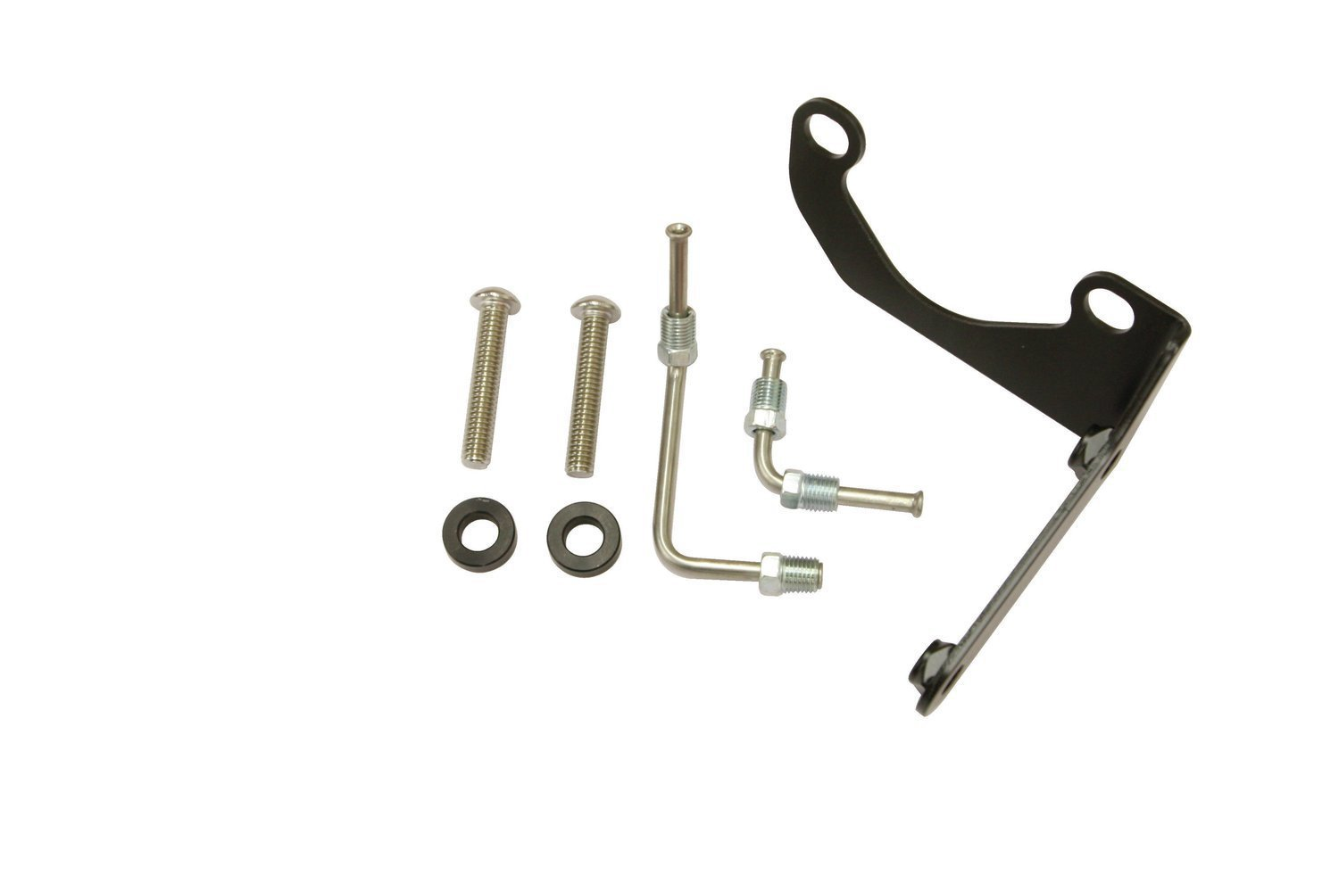 3. We'll begin by mounting the adjustable proportioning valve and use the prefabbed brake lines to mate it to the master cylinder.