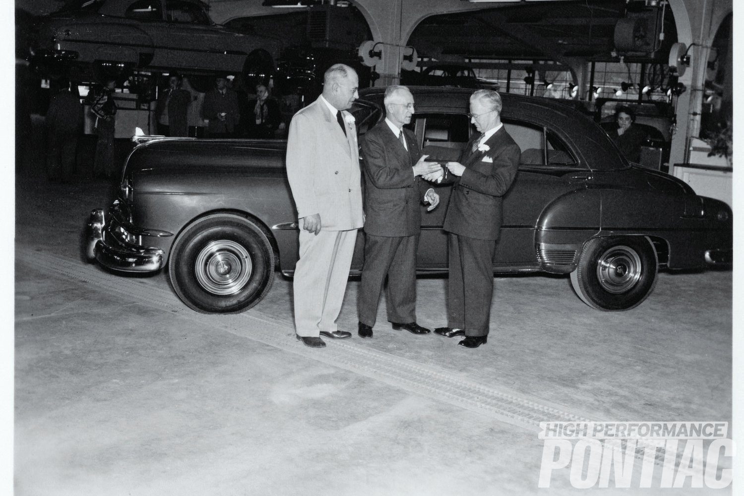 The first car delivered from the Pontiac Retail Store was this '51 Chieftain sedan. Thousands more would follow before post-DeLorean management closed its doors in 1971.