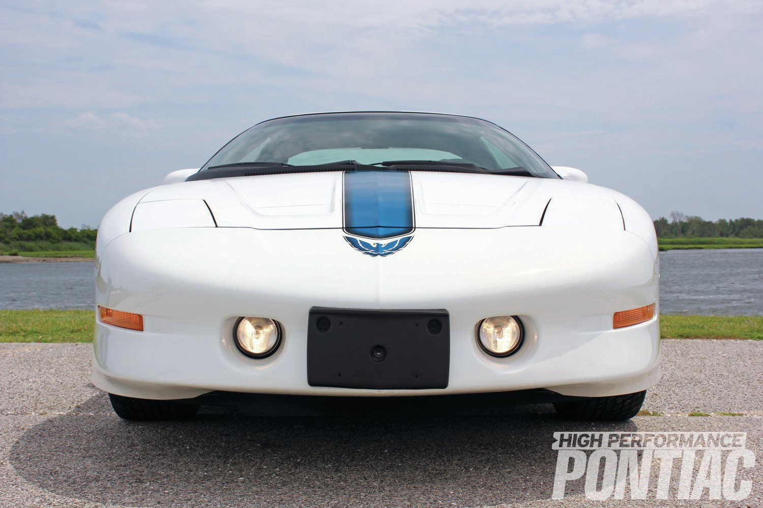 The '93-'97 Trans Am's front fascia screams aerodynamics and make the Bird look like it's in flight even when parked. The foglights were specific to Trans Ams only, and not shared with Firebirds and Formulas that year.