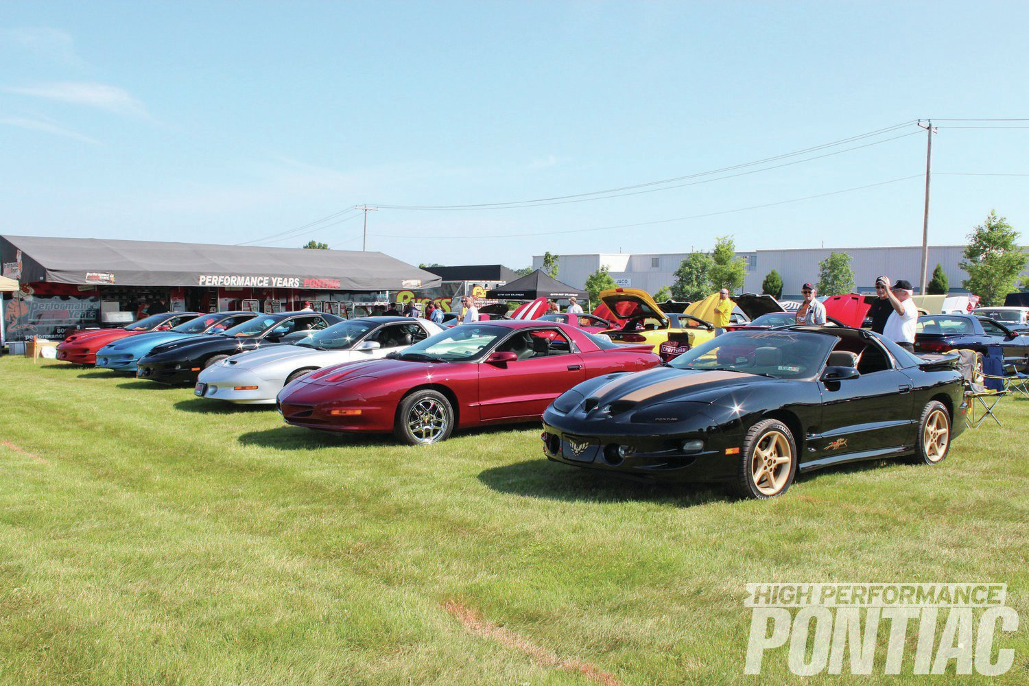An '01 10th Anniversary Firehawk owned by Ray Adamski leads off this row of Fourth-Gen Birds.