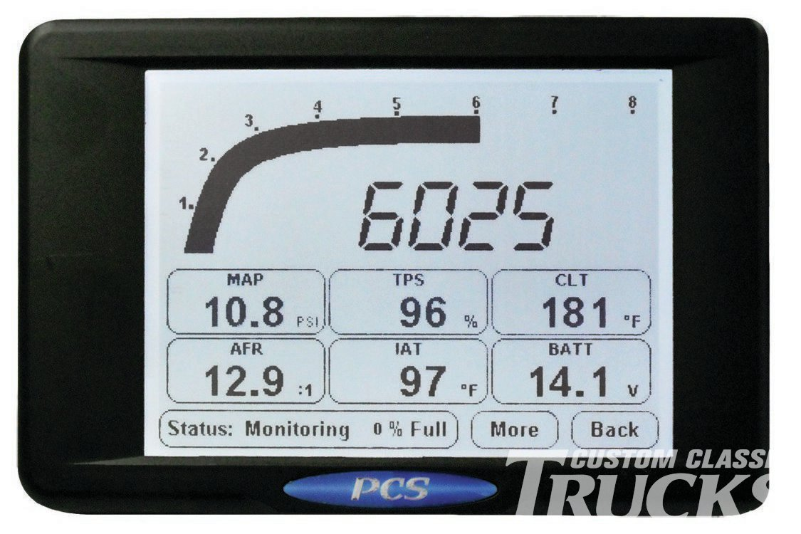10. The PCS D200 Dashlogger is a fully programmable monitoring, data logging, and analysis system for drag race, circle track, road race, and even street trucks. The D200 can bring together information from a Lambda meter, aftermarket ECU, and transmission controller or act as a standalone data acquisition system.