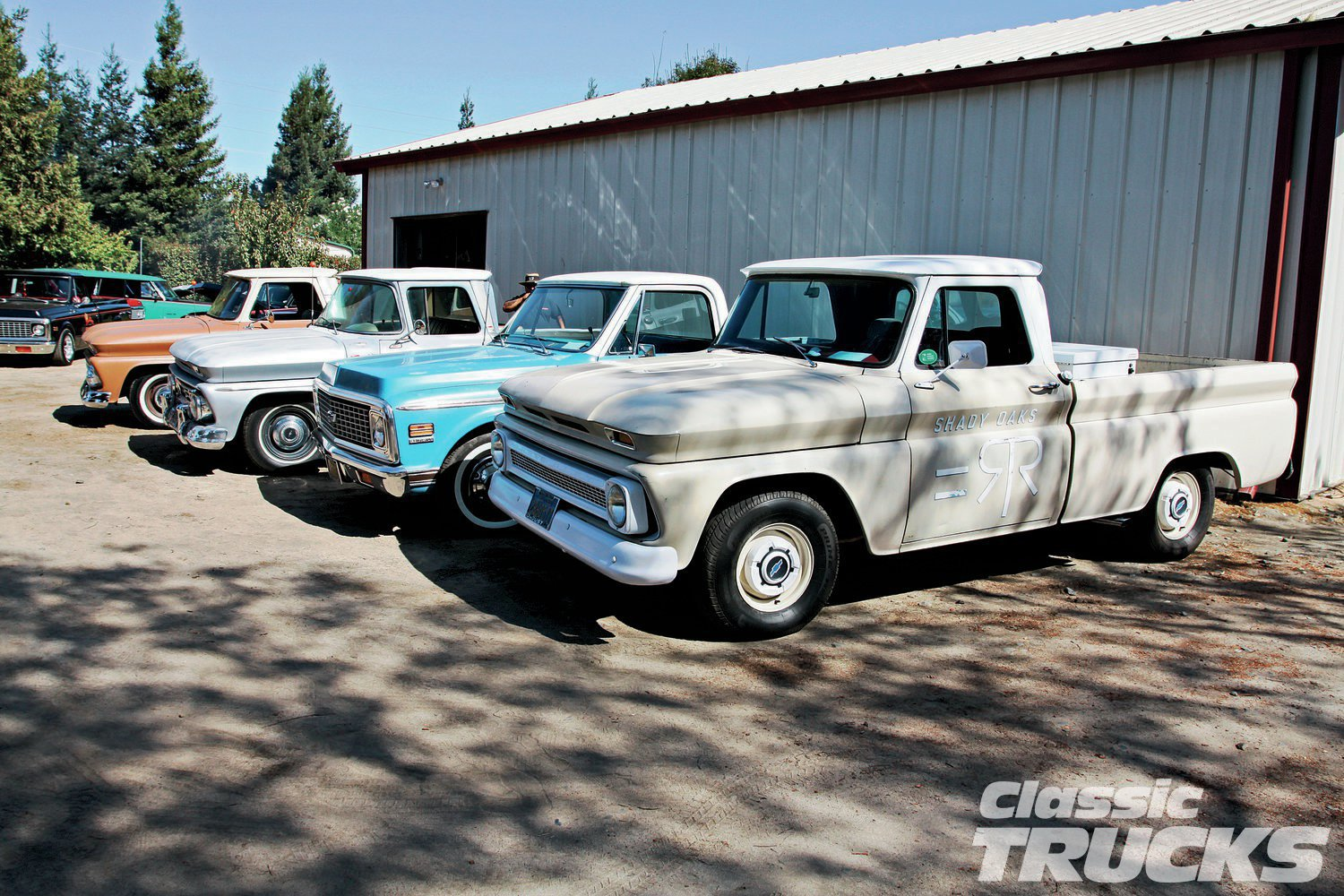 This was taken behind Rene's hobby barn. An astute observer would say the '60-'66 C10s are getting to be a hot commodity.