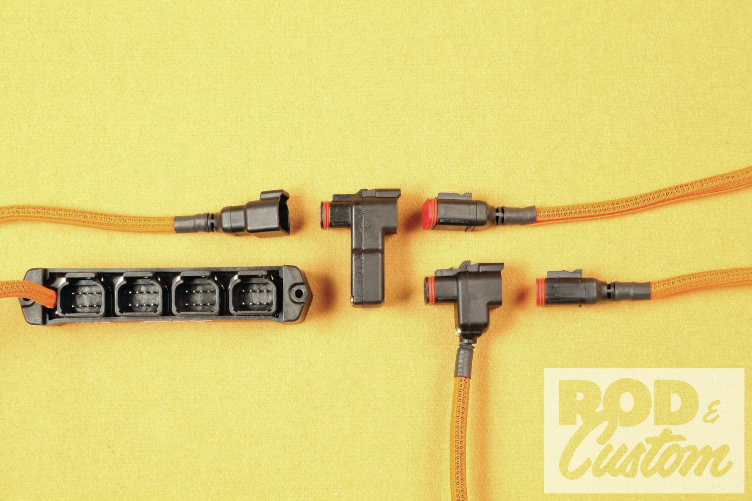 The connector ports match for a reason: with very few exceptions each one fits with the others. That makes any component fit within the system at any point with a connector. Controllers can go in line or at the end of their own dedicated line.