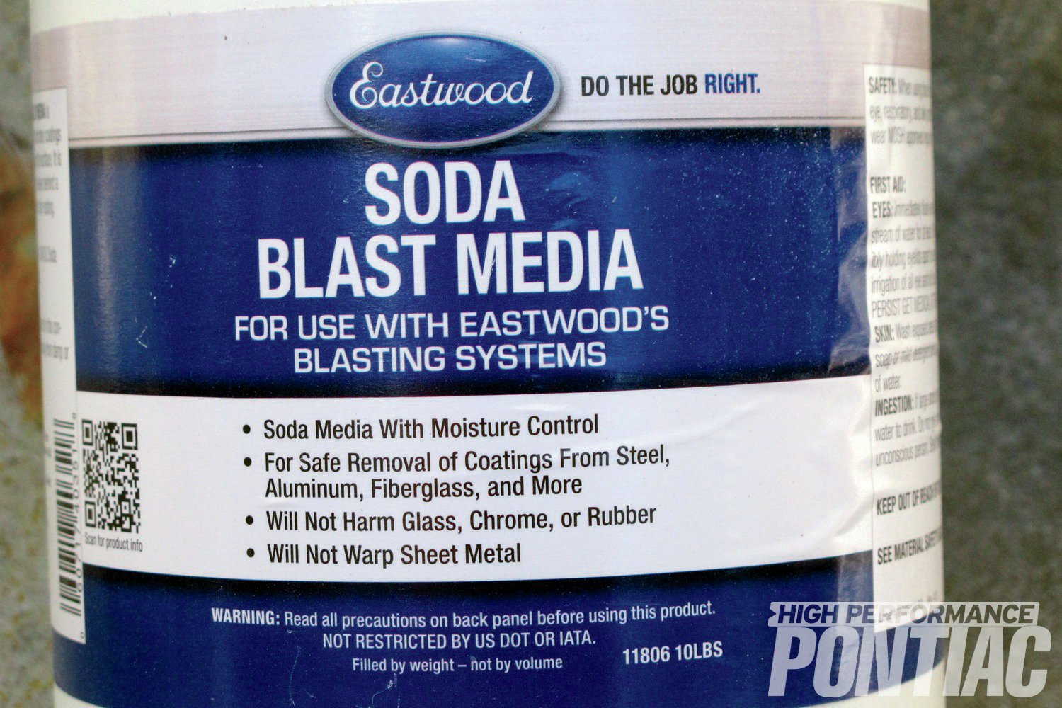 12. Eastwood Company can supply soda in a variety of quantities. Get plenty because 10 pounds, which sounds like a lot, goes pretty quickly.