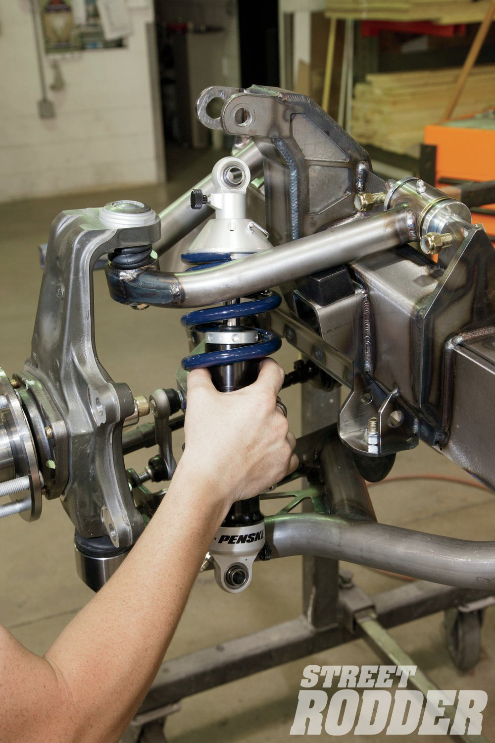10. Penske is one of the biggest names in racing as well as the production of the high-performance shocks—which are used on all RS Fast Track suspension systems. Note that spherical bearings are used in the mounts rather than urethane bushings.