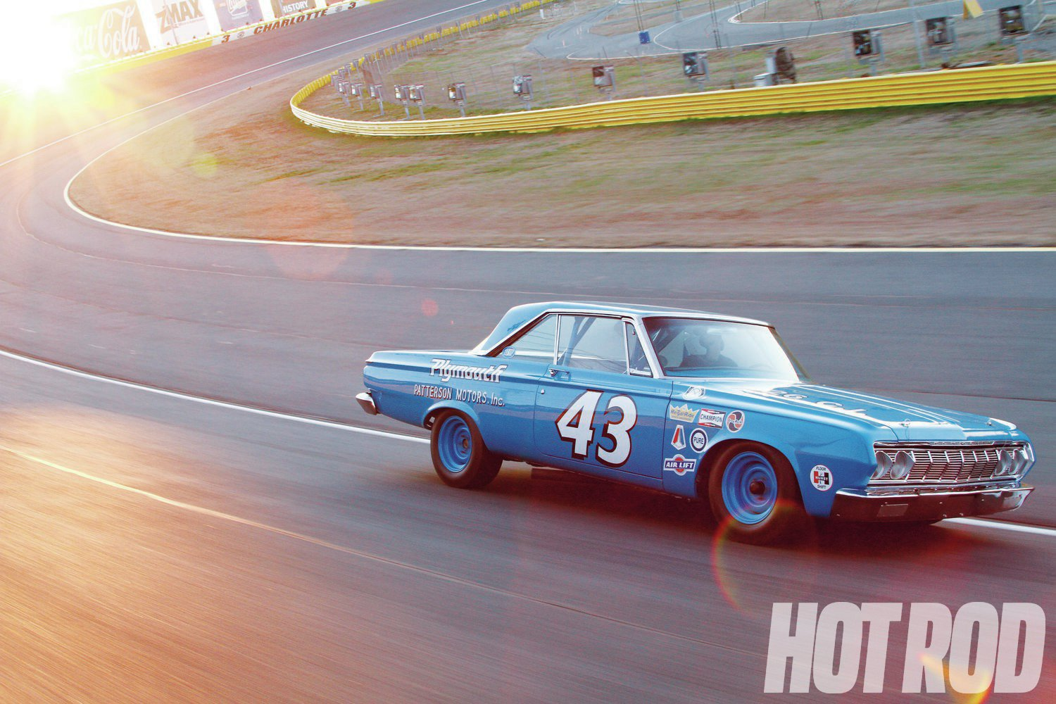 We took this '64 Plymouth clone of the original No. 43 car to Charlotte Motor Speedway in Concord, North Carolina.