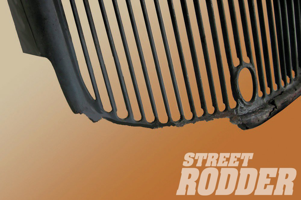 This month we'll talk repairing this badly rusted grille.