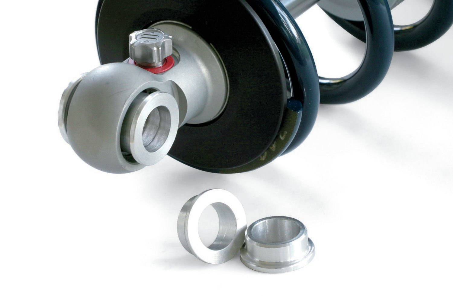 Spacers for the spherical bearings are included to allow the use of either 1/2- or 5/8-inch mounting hardware.
