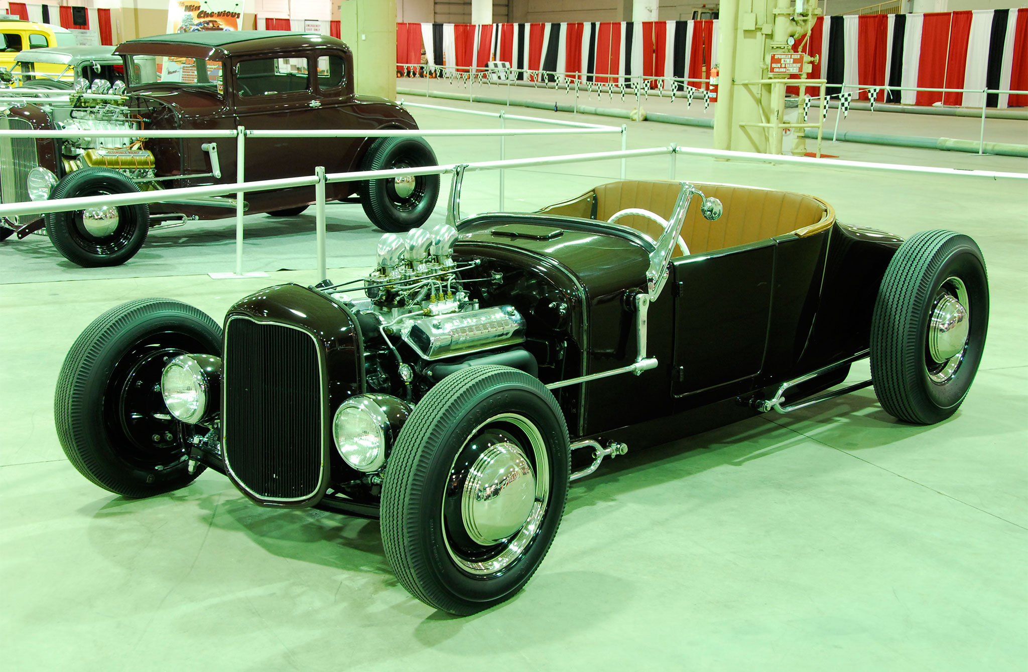 One of the most well-balanced 1926 Ford roadsters on the scene today belongs to Jon Schuchart and features a deep maroon body sitting on an owner-fabbed chassis packed with a 1955 Mercury 292ci V-8 topped with an Offy three-pot.
