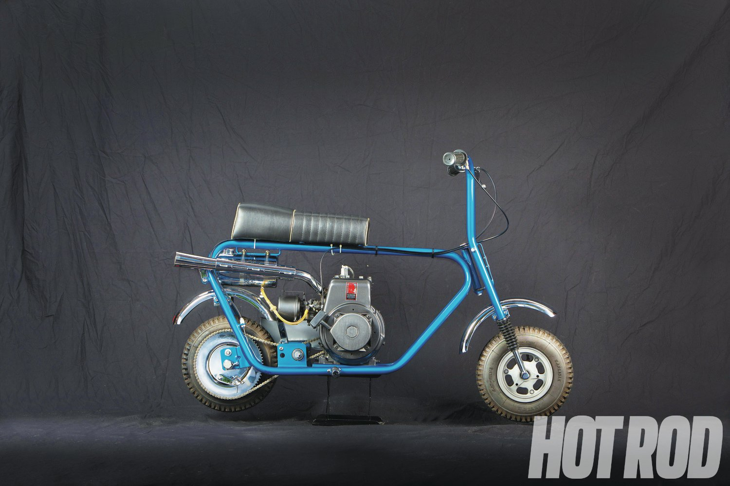Bonanza Industries in San Jose, California, was one of the most prolific minibike companies, with many models including a chopper. Some were Hodaka powered. This is a '75 Bonanza BC1100.