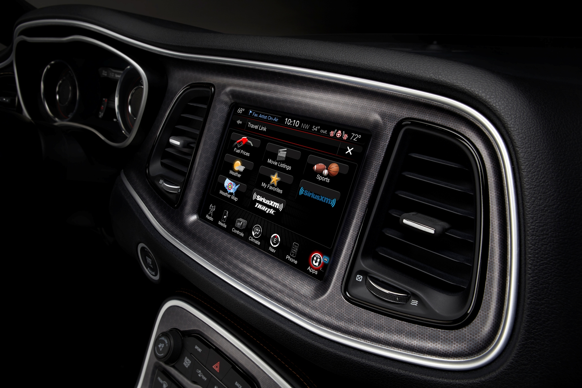 Chrysler's 8.4-inch Uconnect system is a powerful tool that combines music, performance, phone service, navigation, wifi, and internet access all in one. Getting the most from it, however, requires at least three separate subscription services. We added them up, and after all introductory trial periods are over it will set you back about $780 per year. Currently, Uconnect 8.4 is a required option on all 6.4-liter HEMI Challengers.