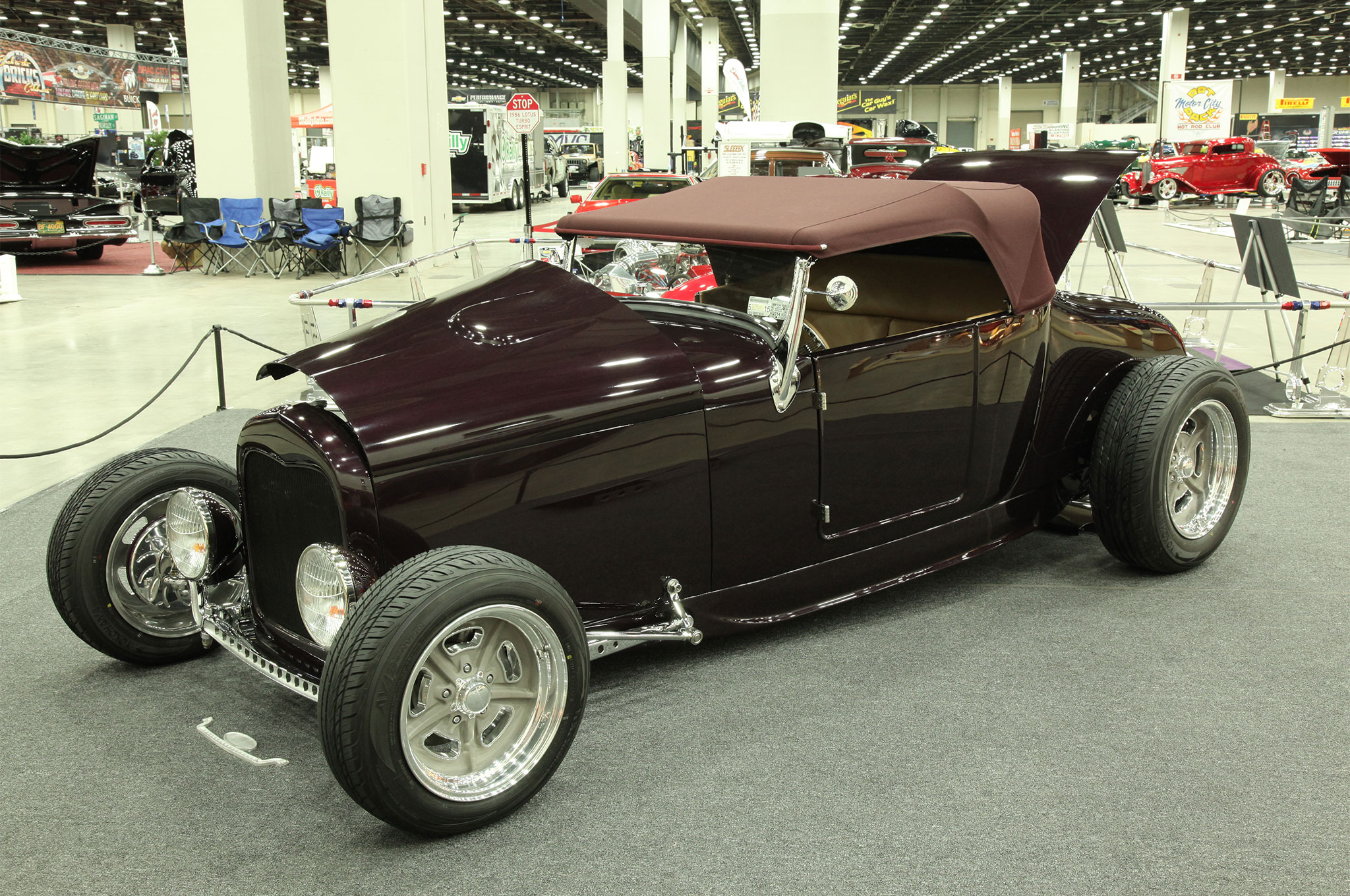 Taking First in the Altered T-Roadster class, Tom Love from North Tonawanda, NY, rolled in with his '27 that was perched on a '32 frame. Using a Shadow Rods body, Love incorporated a ZZ383 GM motor, 15- and 17-inch Billet Specialties wheels, and one-off bucket seats from County Seats Custom Upholstery.