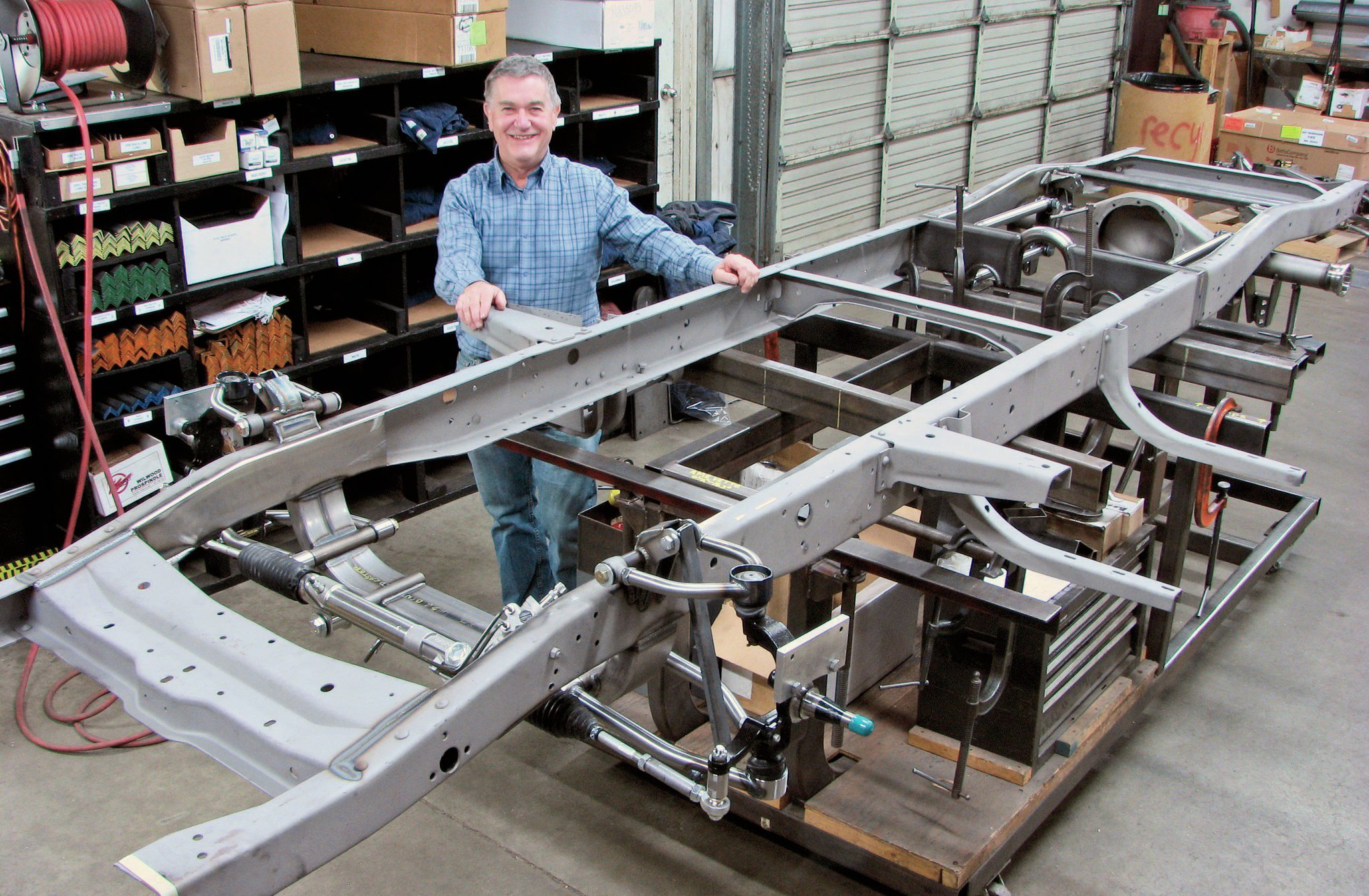 1. Art Morrison stands behind his products, literally and figuratively. With son Craig and a talented staff of engineers, fabricators, and sales people AME has become a leader in the custom chassis business.