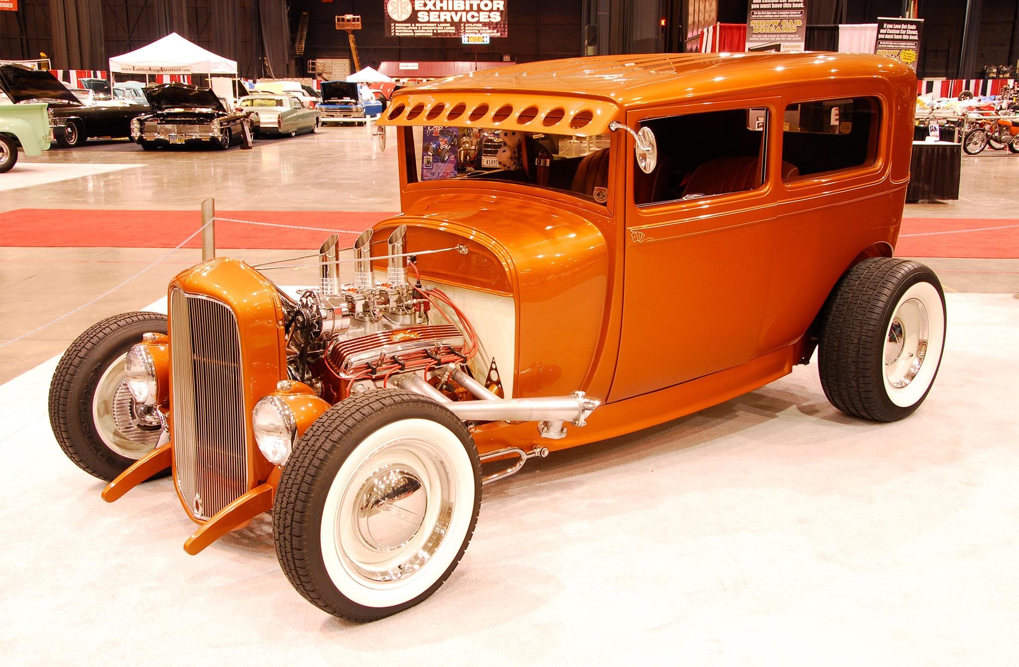 Sporting a 3-inch chop and plenty of PPG Atomic Orange gloss, Lucky and JoeAnna Nehez's 199 Ford had the perfect nostalgic look.